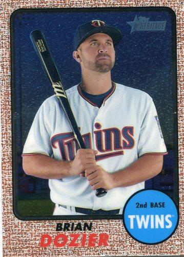 Photo of 2017 Topps Heritage Chrome #THC465  488/999 Brian Dozier -- Twins post-season