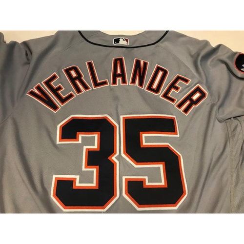 Photo of Team-Issued Justin Verlander Road Jersey