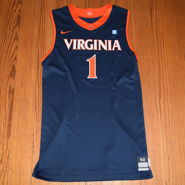 Game-Worn University of Virginia Women's Basketball Jersey: Navy #1