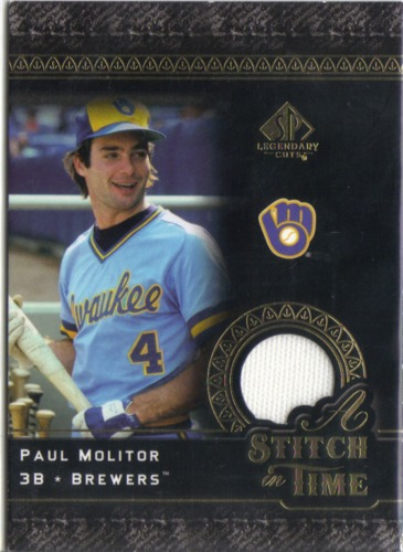 Photo of 2007 SP Legendary Cuts A Stitch in Time Memorabilia #PM Paul Molitor