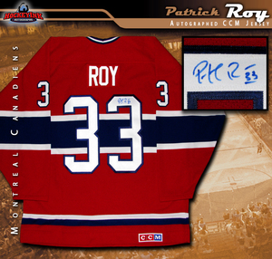 PATRICK ROY Signed Montreal Canadiens Red CCM Jersey