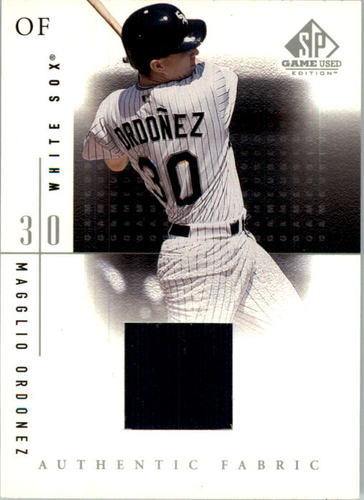 Photo of 2001 SP Game Used Edition Authentic Fabric #MO Magglio Ordonez