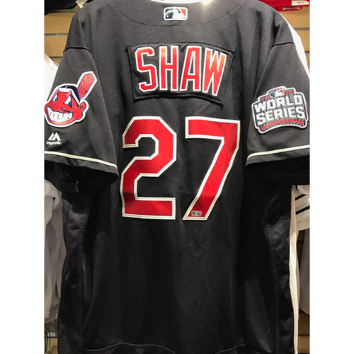 Photo of Bryan Shaw Game-Used Jersey, 2016 World Series vs. Chicago Cubs - GAME 7