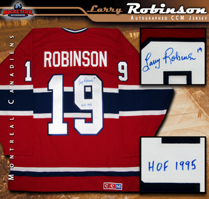 LARRY ROBINSON Signed Montreal Canadiens Red CCM Jersey