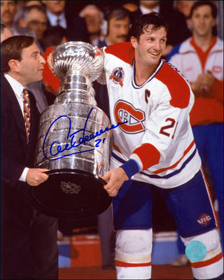Guy Carbonneau Montreal Canadiens Autographed 1993 Stanley Cup 16x20 Photo