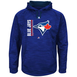Toronto Blue Jays Big & Tall Authentic Collection Icon Hoody Royal by Majestic
