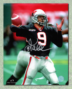 Damon Allen B.C. Lions Autographed CFL Football 8x10 Photo