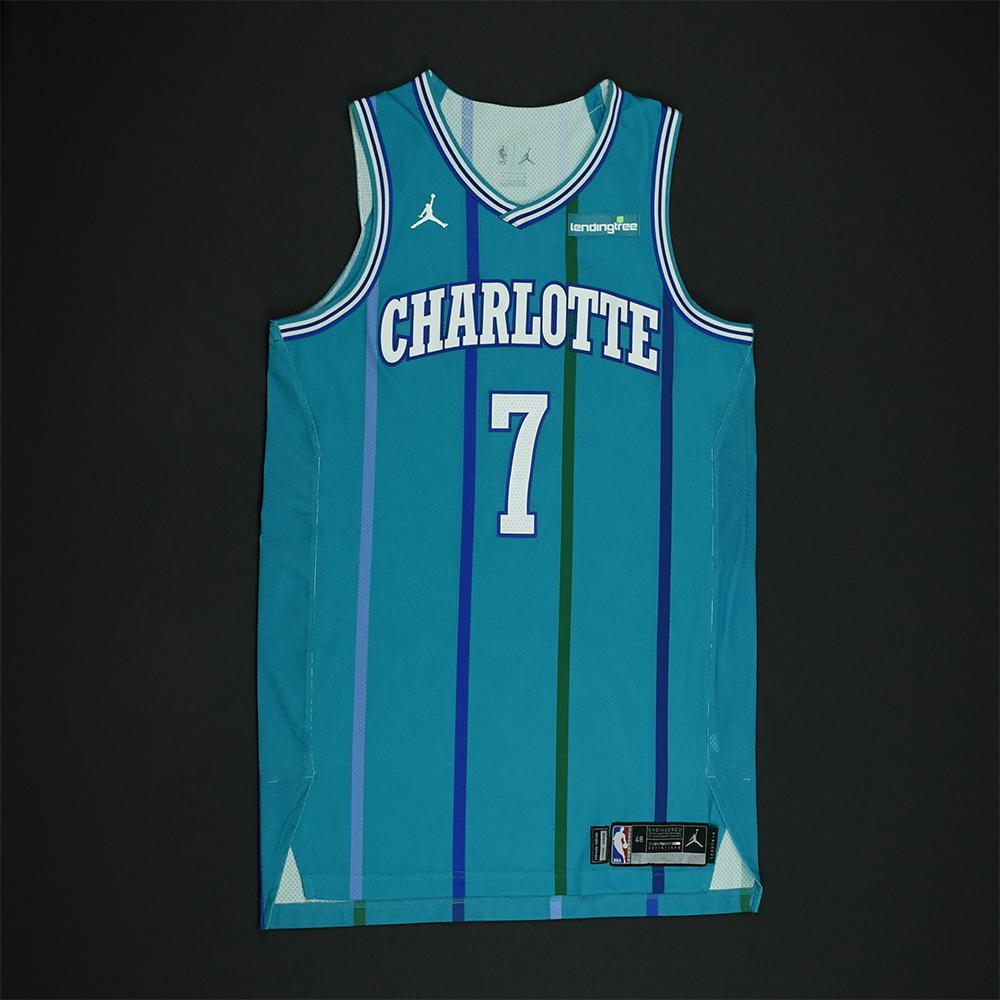 Dwayne Bacon - Charlotte Hornets - Game-Worn Classic Edition 1988-97 Road Style Jersey -2017-18 Season - Dressed, Did Not Play
