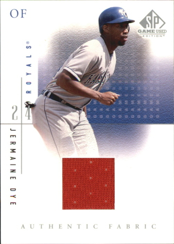 Photo of 2001 SP Game Used Edition Authentic Fabric #JDY Jermaine Dye SP