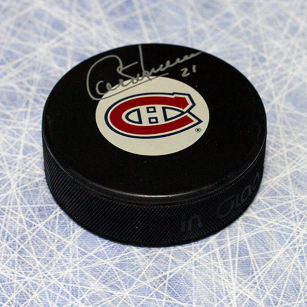 Guy Carbonneau Montreal Canadiens Autographed Hockey Puck