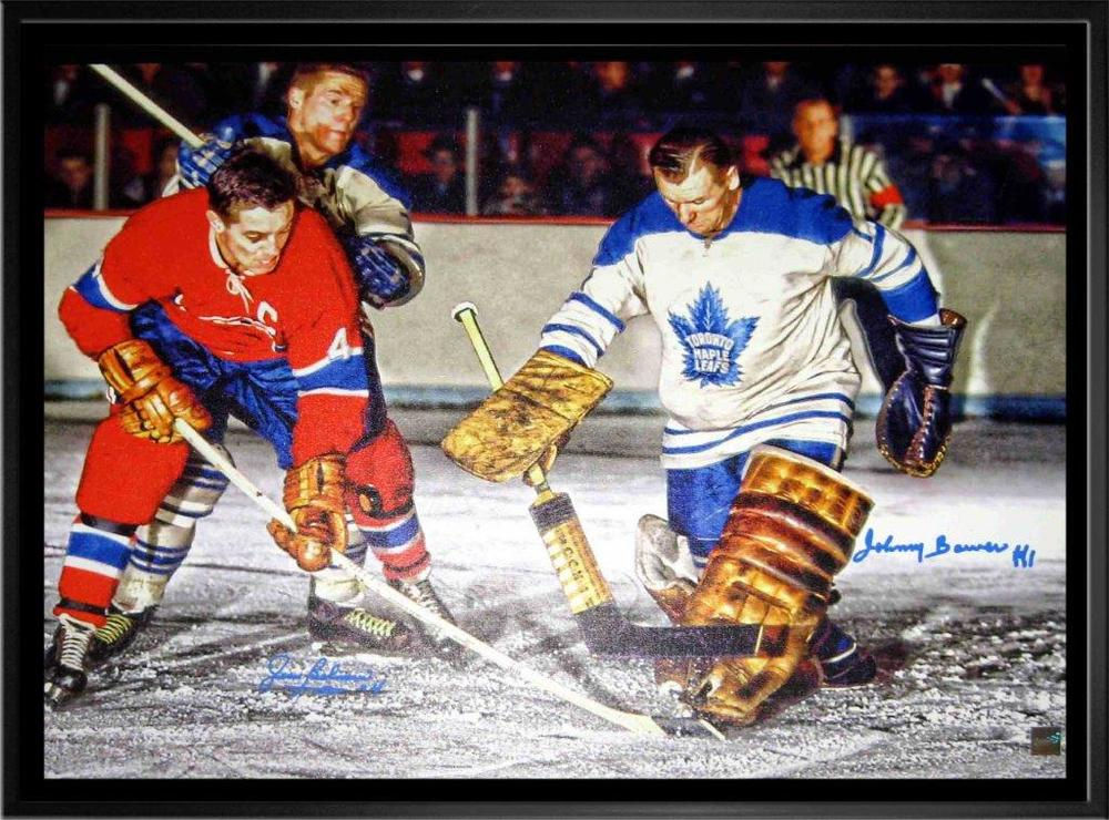 Beliveau,J & Bower,J Dual-Sig 20x29 Framed Canvas H