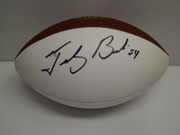 PATRIOTS - TEDY BRUSCHI SIGNED PANEL BALL (SLIGHT SMUDGE)
