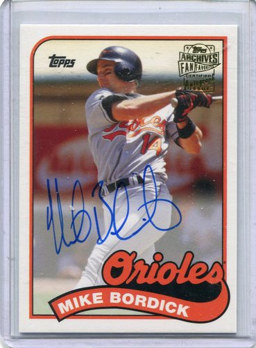 Photo of 2015 Topps Archives Fan Favorites Autographs #FFAMB Mike Bordick