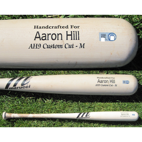 San Francisco Giants - Team Issued Broken Bat - Spring Training - Aaron Hill