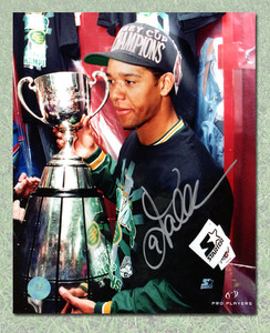 Damon Allen Edmonton Eskimos Autographed Grey Cup 8x10 Photo