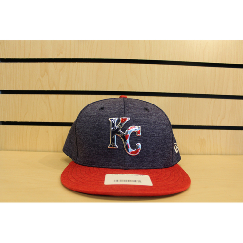 Photo of Game-Used Mike Moustakas 4th of July Hat (Size 7 3/8)