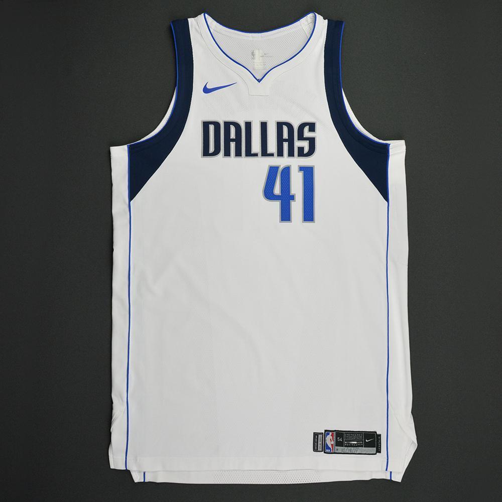 Dirk Nowitzki - Dallas Mavericks - Kia NBA Tip-Off 2017 - Game-Worn 2nd Half Only Jersey