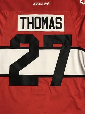 ROBERT THOMAS 2017 CIBC CANADA RUSSIA SERIES GAME WORN JERSEY