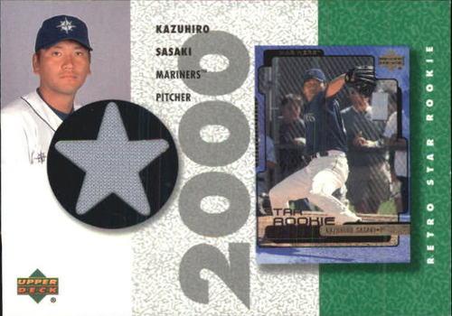 Photo of 2002 UD Authentics Retro Star Rookie Jerseys #SRKS Kazuhiro Sasaki