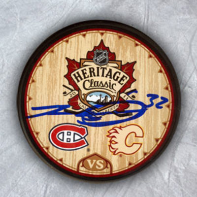 TRAVIS MOEN Canadiens SIGNED Heritage Classic Puck