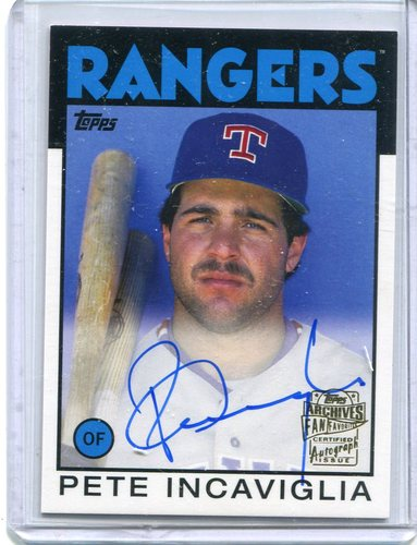 Photo of 2015 Topps Archives Fan Favorites Autographs #FFAPI Pete Incaviglia