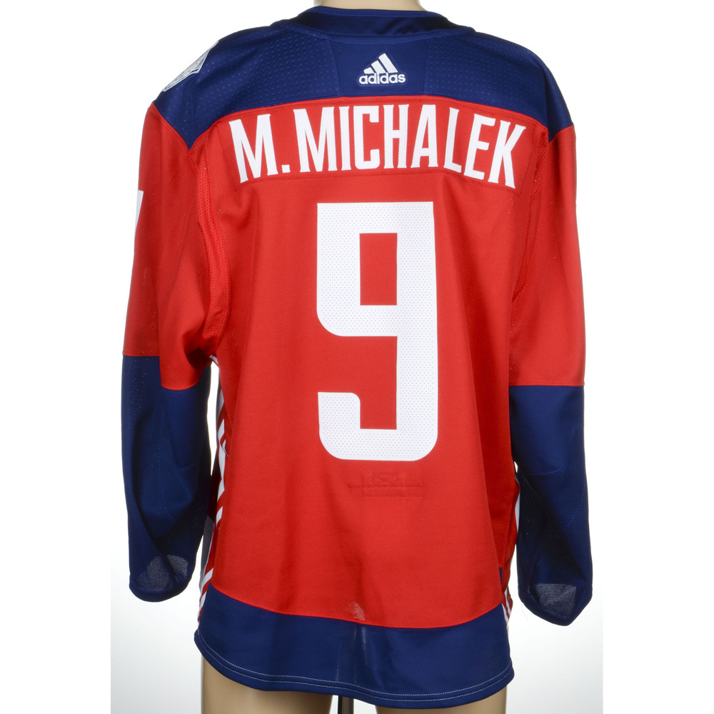 Milan Michalek Toronto Maple Leafs Game-Worn 2016 World Cup of Hockey Team Czech Republic Jersey, Worn Against Team Europe During September 19th