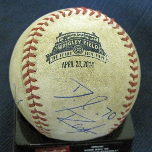 UMPS CARE AUCTION: Crew Signed Wrigley Field 100-Year Celebration Baseball