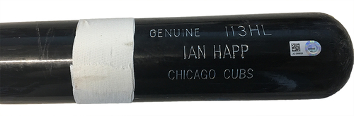 Ian Happ Game-Used Cracked Bat -- Zach Britton to Ian Happ, Top 8, Single -- Cubs at Orioles -- 7/14/17