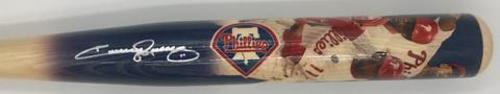 Photo of Jimmy Rollins Autographed Commemorative Most Hits in Phillies History Painted Bat