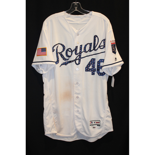 Photo of Game-Used Jersey: Ramon Torres (Size 46 - MIN at KC - 7/2/17)