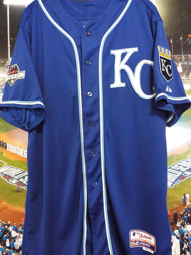 Photo of Club Issued Kendrys Morales Blue 2015 Postseason Jersey
