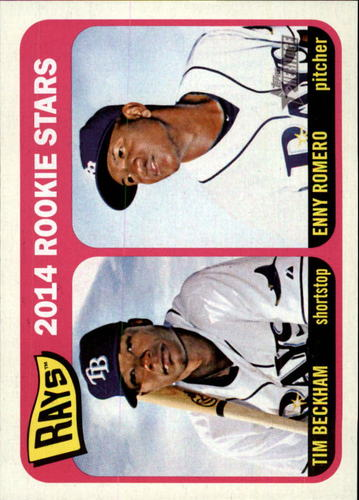 Photo of 2014 Topps Heritage #259 Tim Beckham RC/Enny Romero RC