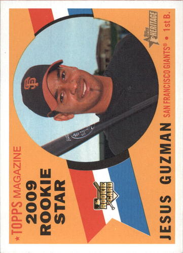 Photo of 2009 Topps Heritage #602 Jesus Guzman RC