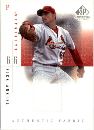 Photo of 2001 SP Game Used Edition Authentic Fabric #RA Rick Ankiel DP