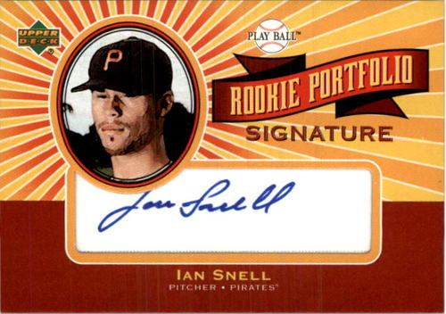 Photo of 2004 Upper Deck Play Ball Rookie Portfolio Signature #IS Ian Snell