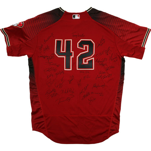 Photo of 2017 Jackie Robinson Day Jersey - Arizona Diamondbacks Team Autographed Jersey