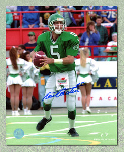 Kent Austin Saskatchewan Roughriders Autographed CFL Football 8x10 Photo