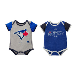 Toronto Blue Jays Newborn/Infant 2 Piece Vintage Creeper Royal/Grey by Majestic