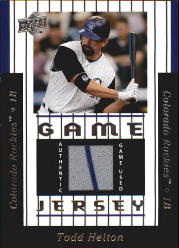 Photo of 2008 Upper Deck UD Game Materials 1997 #TH Todd Helton