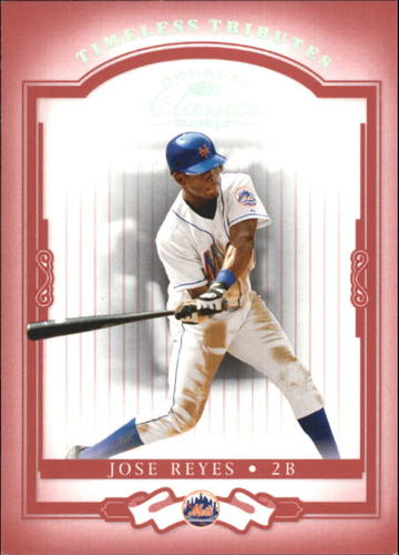 Photo of 2004 Donruss Classics Timeless Tributes Red #46 Jose Reyes