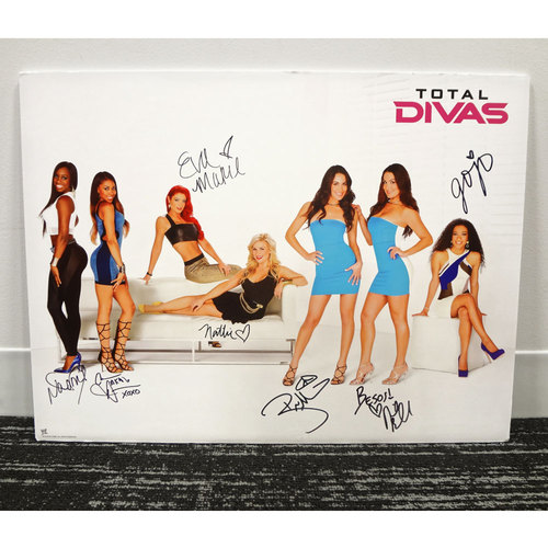 SIGNED Foam Board Poster of the cast of