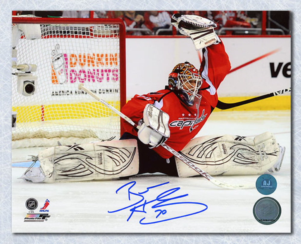 Braden Holtby Washington Capitals Autographed Split Save 8x10 Photo