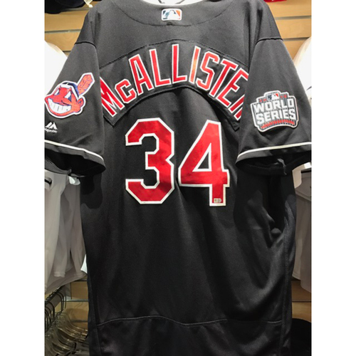 Photo of Zach McAllister Game-Used Jersey, 2016 World Series vs. Chicago Cubs - GAME 7