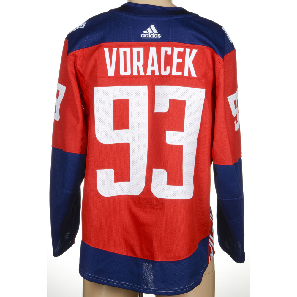 Jakub Voracek Philadelphia Flyers Game-Worn 2016 World Cup of Hockey Team Czech Republic Jersey, Worn Against Team Europe During September 19th. Goal Scored Against Team Europe