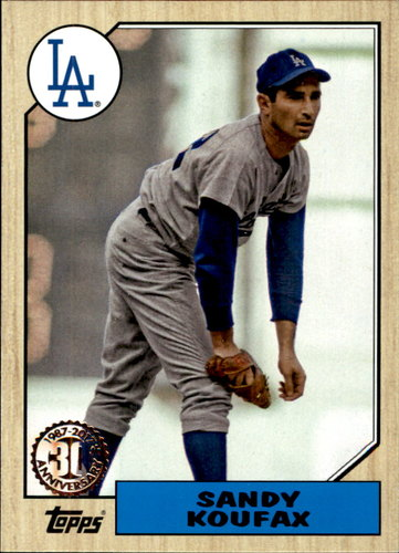 Photo of 2017 Topps '87 Topps #879 Sandy Koufax