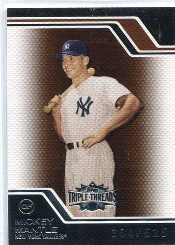 Photo of 2008 Topps Triple Threads Sepia #7 Mickey Mantle