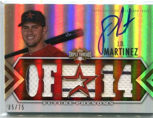 Photo of 2012 Topps Triple Threads Sepia #160 J.D. Martinez 35/75 -- D'backs post-season