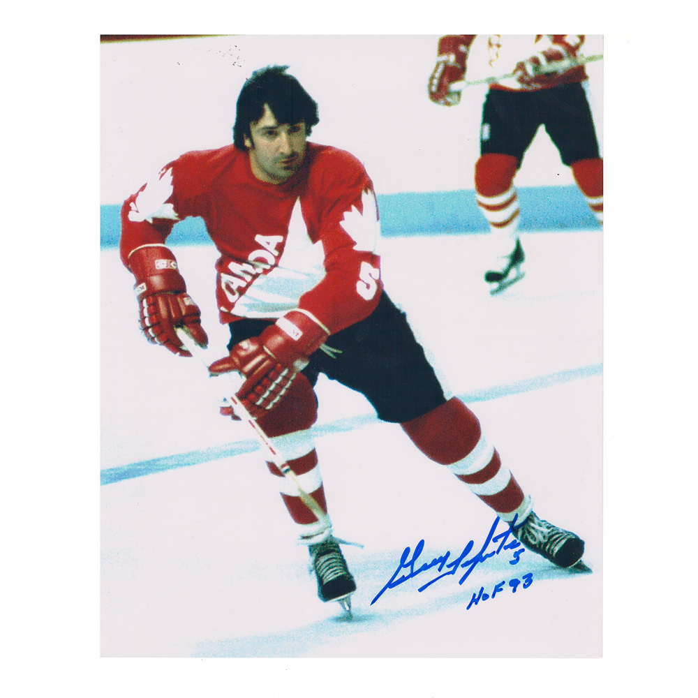 GUY LAPOINTE Signed Team Canada 8 X 10 Photo - 70280