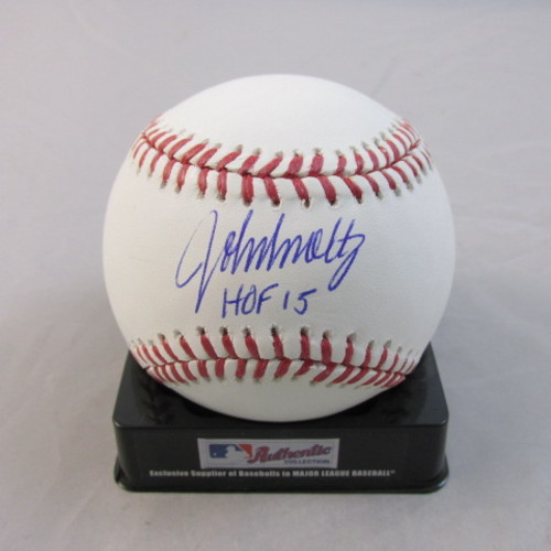 "Photo of John Smoltz Autographed ""HOF 2015"" Baseball"