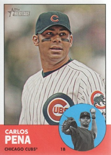 Photo of 2012 Topps Heritage #380A Carlos Pena